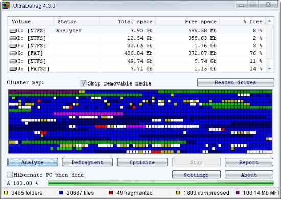 UltraDefrag 免安裝