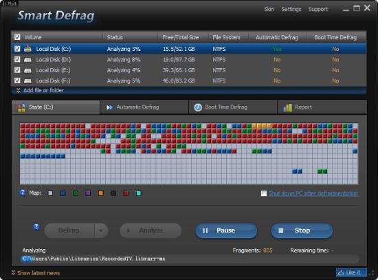 硬碟重組軟體 Smart Defrag