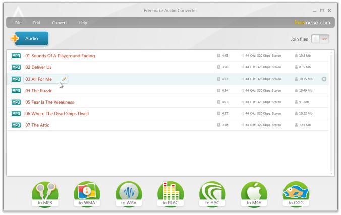 音樂轉檔程式 Free Audio Converter