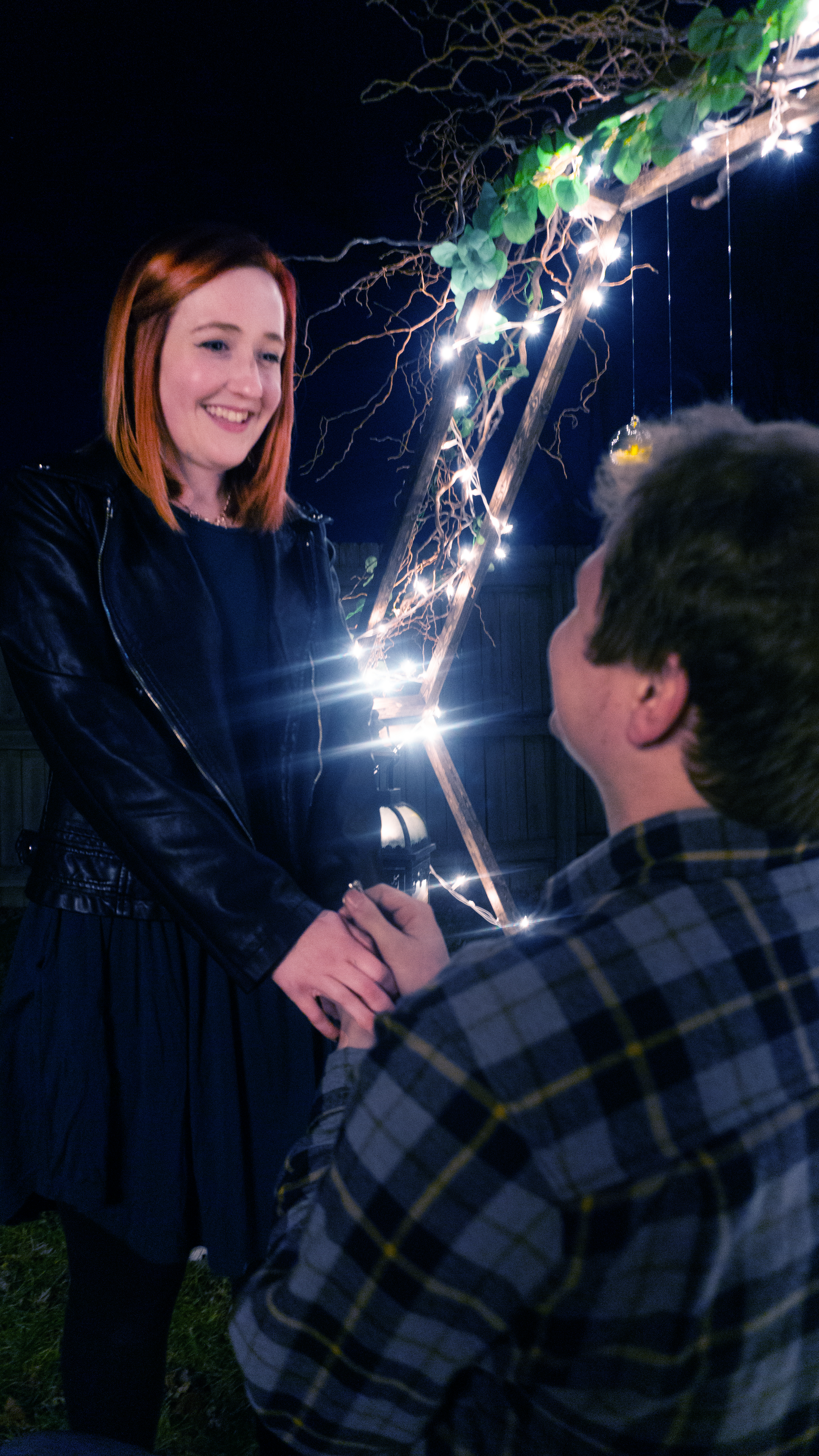 Proposal with lighted background