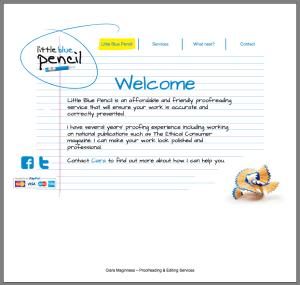 little blue pencil website