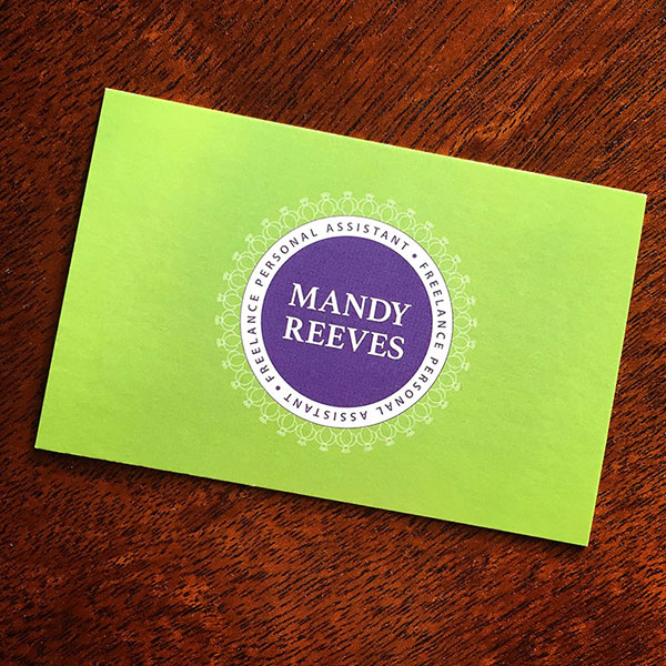 Mandy Reeves - business cards