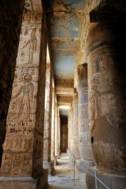 The Mortuary Temple of Ramesses III at Medinet Habu was an important New Kingdom period temple structure in the West Bank of Luxor in Egypt