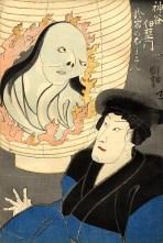 Kuniyoshi Utagawa, ''The Ghost in the Lantern'', 1852.  The print depicts a Kamiya Iantern haunted by the ghost of O-Iwa