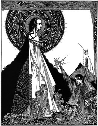 "Illustration for Edgar Allan Poe's story ""Ligeia"" by Harry Clarke (1889-1931), published in 1919."