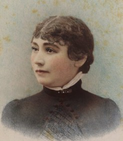 Sarah Winchester, taken in 1865 by the Taber Photographic company of San Francisco.