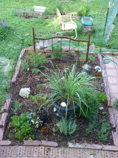 The new Herb Garden - a work in progress.