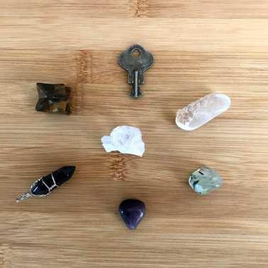 small crystal grid chosen with a pendulum
