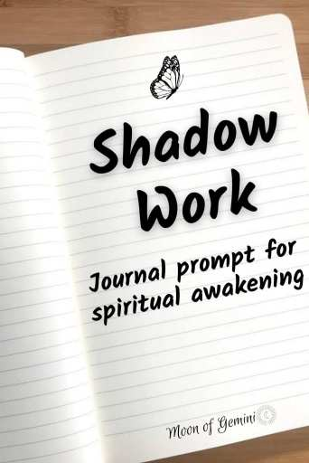 shadow work is a great place to start on your spiritual awakening journey. Try this simple prompt to start!