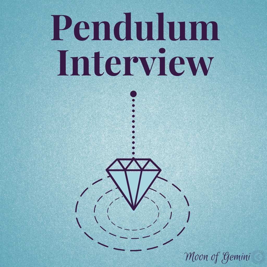interview your pendulum with a pendulum