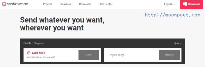 Send Anywhere 單檔4GB免費上傳空間 只要六位數字就能下載