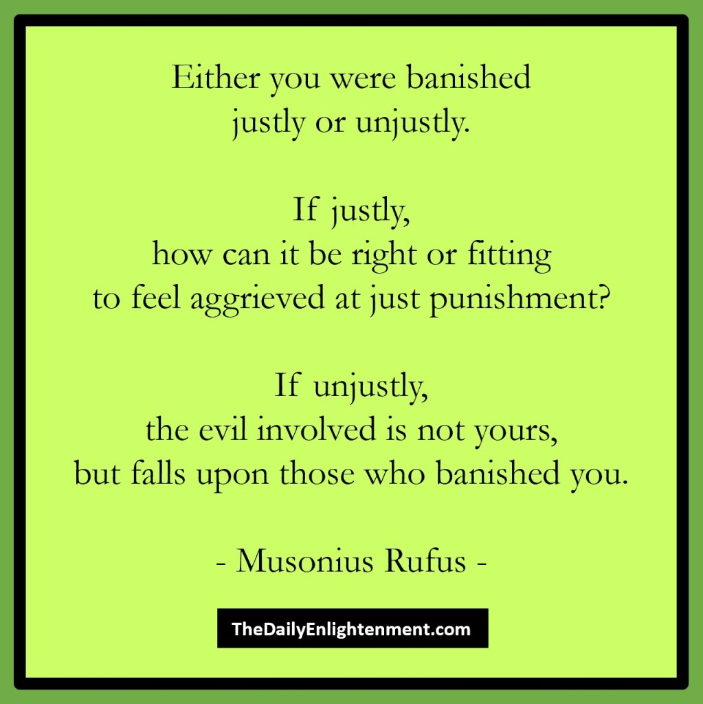 If Banished Justly Or Unjustly
