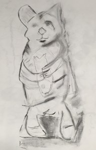 Cat statue-front