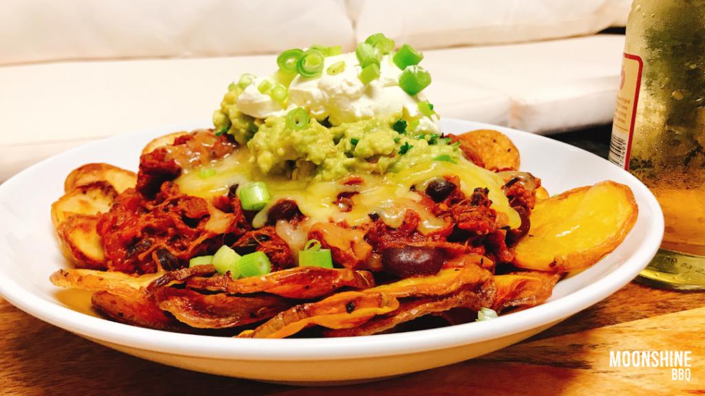 Brisket Nachos with Chilli Salt Potatoes