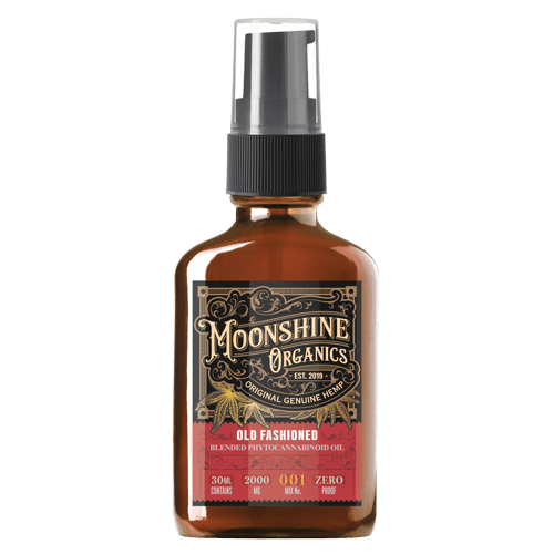 Moonshine Organics Craft Cocktail Collection Old Fashioned Front Pump Mockup