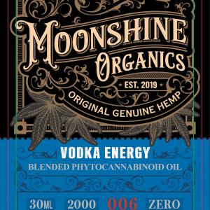 Moonshine Organics Craft Cocktail Collection Vodka Energy Label