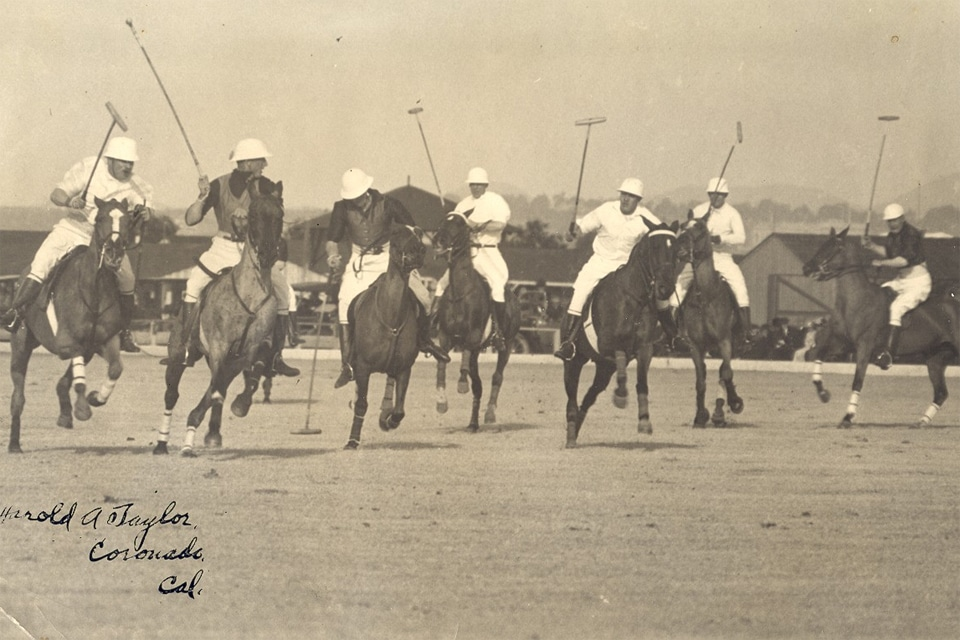Ancienne photo d'un match de polo vintage