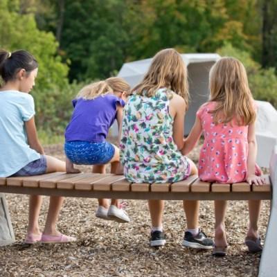 Girls on Facet Form Bench