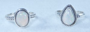 Sterling Silver Ethiopian Opal Rings