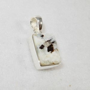 Astrophyllite Small White Rectangle Pendant
