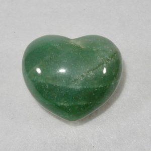 Green Aventurine Puffed Heart