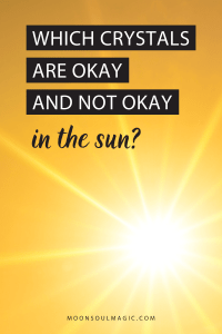 Which Crystals are Okay and Not Okay in the Sun