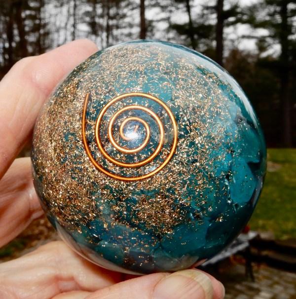 Orgonite Turquoise Sphere