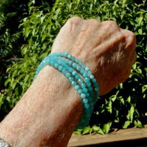 Amazonite Faceted Bracelets