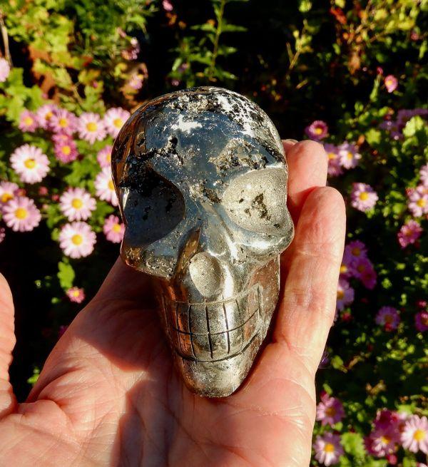 Pyrite Lg Skull