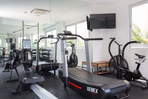 Gym at Moonstone Villa, a luxury and private 6 bedroom beach front villa located in Plai Laem, Koh Samui, Thailand