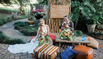 Modern + Organic Wedding Ceremony at Springdale Station | Party at
