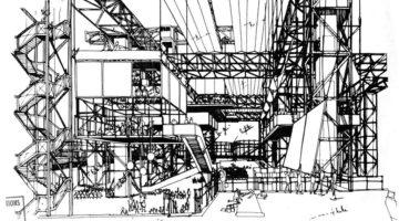 Conceptual Drawing of Fun Palace, Cedric Price
