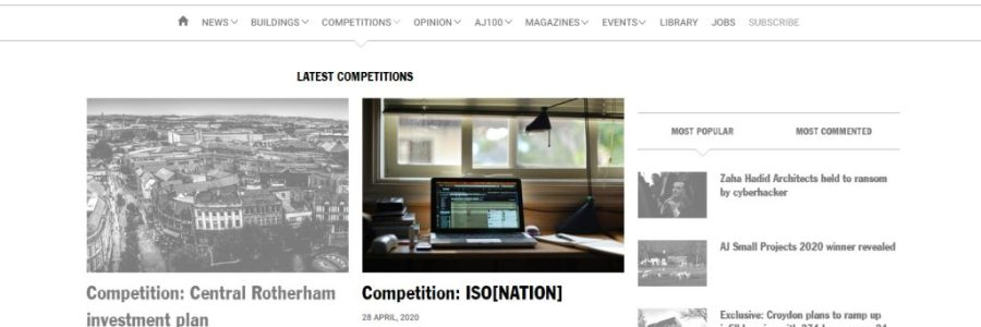 mOOO3 isonation iso[nation] competition AJ Architect's Journal