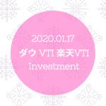 20200117NYダウとVTIと楽天VTI