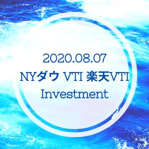 20200807NYダウとVTIと楽天VTI