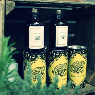 MOORGIN - Gin aus Kolbermoor bottles and gift boxes