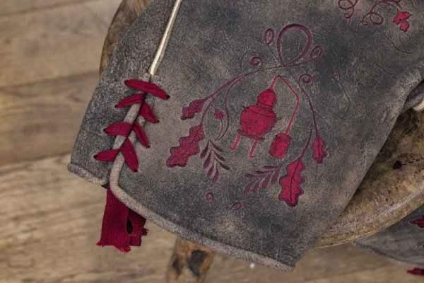 Sämisch gegerbte Wildbock Lederhose Detail5