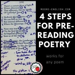 Four Steps For Pre-Reading Any Poem #moore-english moore-english.com