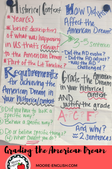 Grading the American Dream @moore-english.com #moore-english