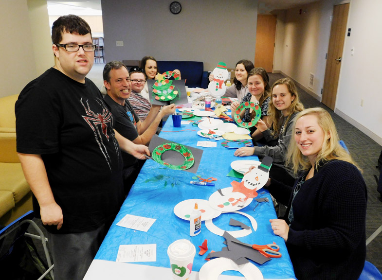 Developing skills in dexterity, creativity and having fun creating Christmas crafts!