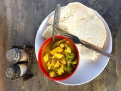 Traditional Nepal dinner, dal baht