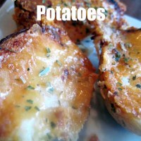 Garlic Parmesan Crusted Potatoes & Video