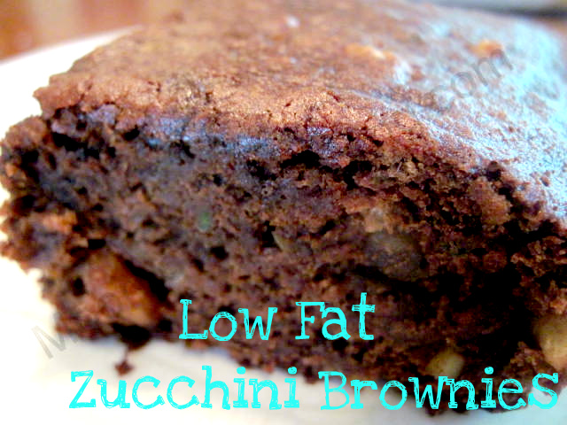Low Fat Zucchini Brownies