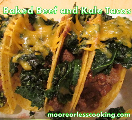 BAKED BEEF AND KALE TACOS