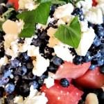 Watermelon Blueberry Mint Salad