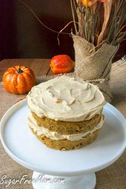 Free Pumpkin Spice Maple Cream Layered Mug Cake This mini layered cake ...