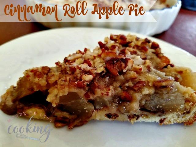 Apple Cinnamon Roll Pie
