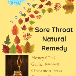 Soothing sore throat natural remedy