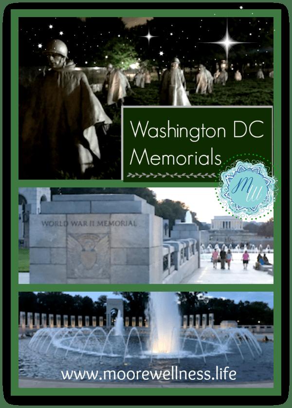 Korean Memorial and World War II Memorial in Washington, D.C.