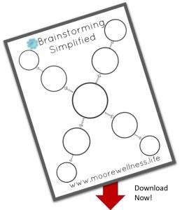 brainstorming simplified free template
